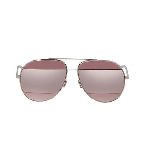 Kính Mát Dior Silver Pink Aviator Unisex Sunglasses