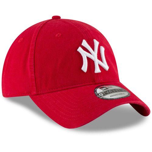 Mũ MLB Men's New York Yankees New Era Red Core Classic Secondary 9TWENTY Adjustable Hat