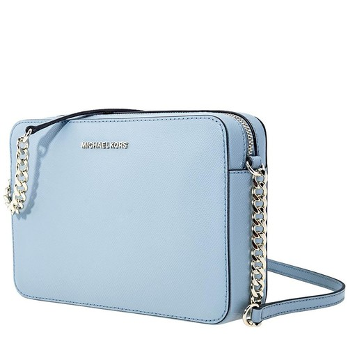 Túi Michael Kors Jet Set Large Saffiano Leather Crossbody- Powder Blue