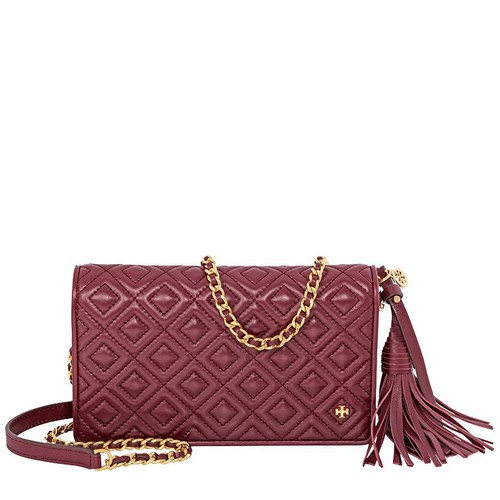 Túi Tory Burch Fleming Flat Wallet Crossbody Bag- Imperial Garnet