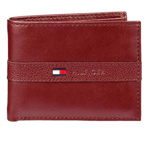 Ví Tommy Hilfiger Men's Thin Sleek Casual Bifold Wallet with 6 Credit Card Pockets and Removable Id Window