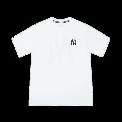 Áo Phông MLB New York Yankees Popping Big Logo Short Sleeve T – Shirt White Size 105