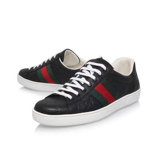 Giày Thể Thao Gucci Ace Signature Sneaker Màu Đen Size 42