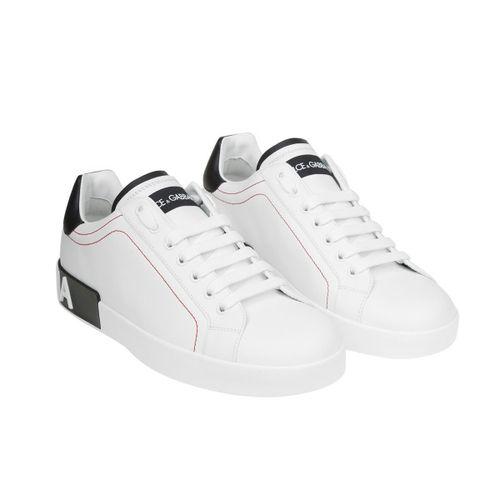 Giày Thể Thao Dolce & Gabbana Calfskin Nappa Portofino Sneakers Size 43