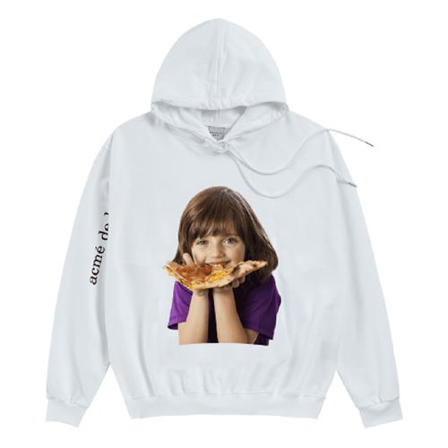 Áo Hoodie Acme De Lavie Baby Face Pizza Màu Trắng