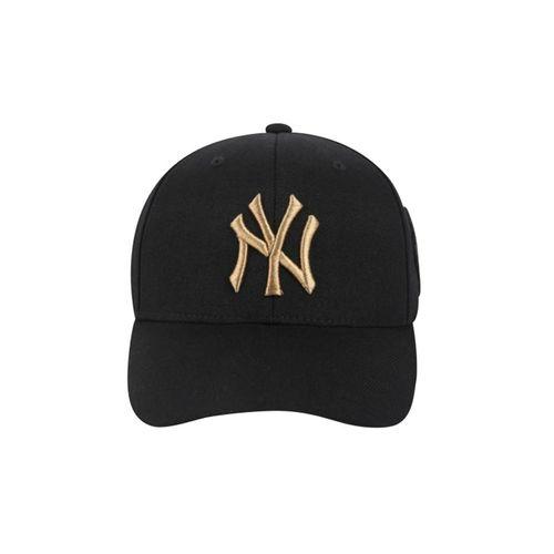 Mũ MLB New York Yankees Circle Curved Cap Black