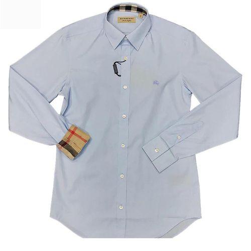 Áo Sơ Mi Burberry London England Pale Blue Long Sleeve Shirt