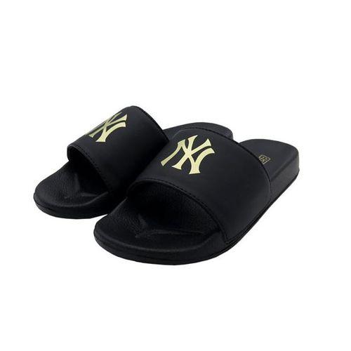 Dép Unisex MLB Đen Logo Vàng Size 40