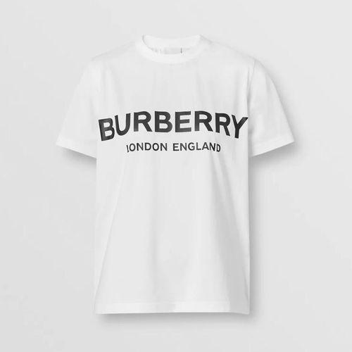 Áo Phông Burberry Logo Print Cotton T-shirt Màu Trắng