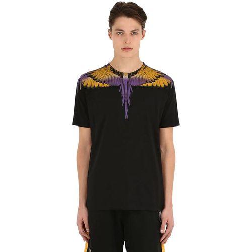 Áo Phông Marcelo Burlon Wings Printed Black Tee Màu Đen