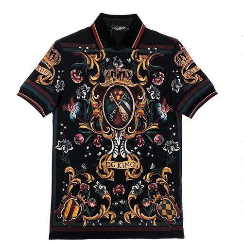 Áo Polo Dolce & Gabbana Mẫu Mới Màu Đen