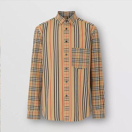 Áo Sơ Mi Burberry Classic Fit Patchwork Cotton Poplin Shirt