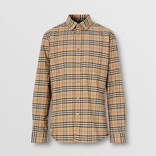 Áo Sơ Mi Burberry Small Scale Check Stretch Cotton Shirt