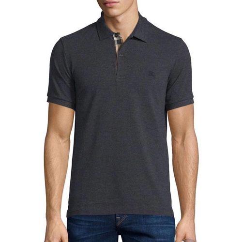 Áo Polo Burberry London England Black Polo Shirt Màu Xám Đen