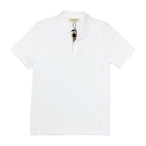 Áo Polo Burberry London England Cotton Short Sleeve Polo Shirt Màu Trắng