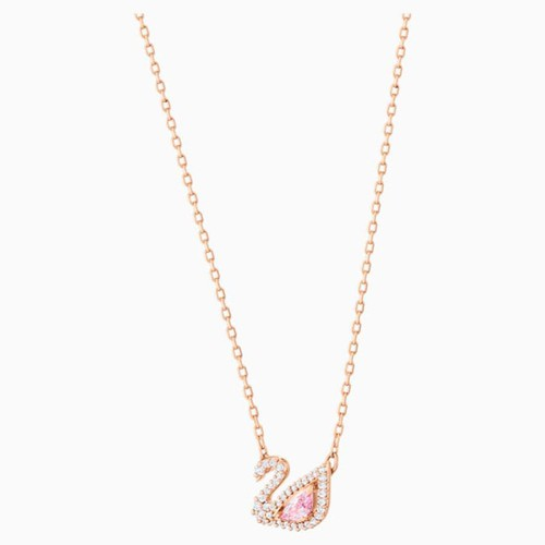 Dây Chuyền Swarovski Dazzling Swan Necklace Multi-Colored Rose-Gold Tone Plated
