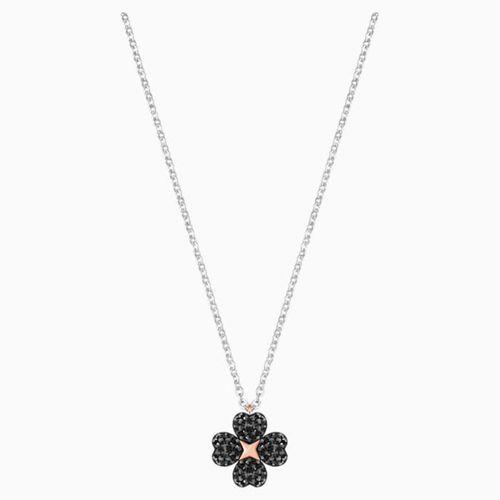 Dây Chuyền Swarovski Latisha Flower Pendant Mixed Metal Finish Mặt Hoa Đen