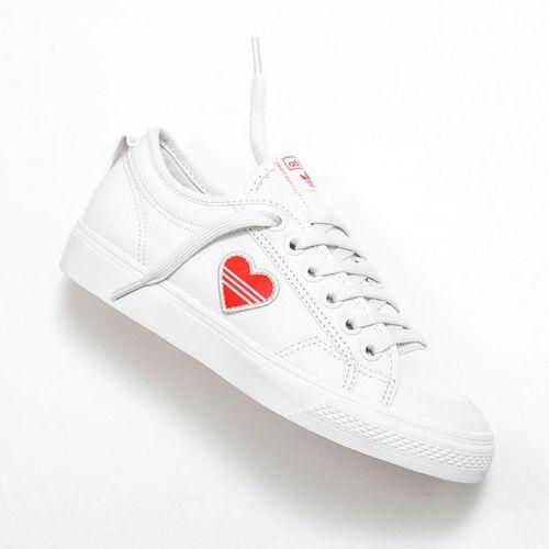 Giày Sneaker Adidas Nizza Heart Màu Trắng
