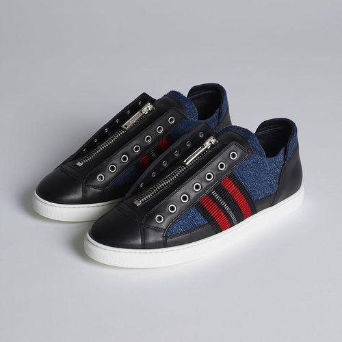 Giày Thể Thao Dsquared2 50's Rock Asylum Sneakers Màu Đen