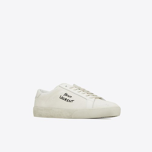 Giày Thể Thao Saint Laurent Court Classic SL/06 Embroidered Sneakers Màu Trắng