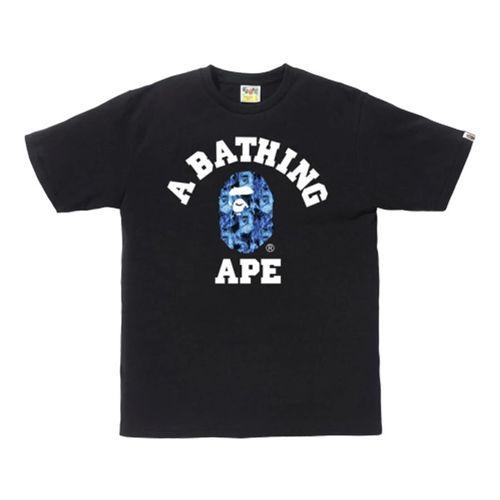 Áo Phông Bape Flame College T-Shirt Màu Đen