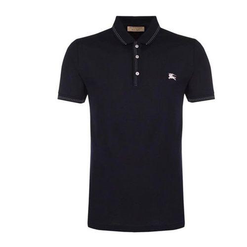 Áo Phông Burberry Stitch Detail Polo Shirt Màu Đen Size M