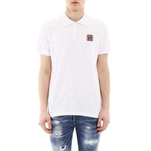 Áo Polo Dsquared2 T-Shirt D2 Logo Màu Trắng