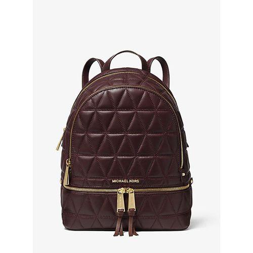 Balo Michael Kors Rhea Medium Quilted Leather Backpack Màu Nâu Tím
