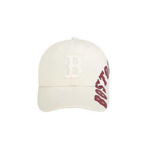 Mũ MLB Chunky Adjustable Cap Boston Red Sox Màu Trắng Sữa Họa Tiết Chữ Đỏ