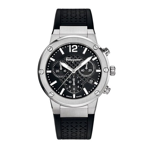 Đồng Hồ Salvatore Ferragamo F-80 Chrono Analog Display Quartz Black Watch FIH010015 Cho Nam