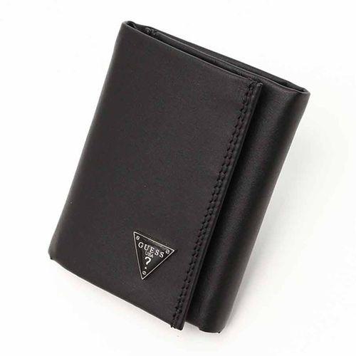 Ví Nam Guess Men's Leather Trifold Wallet - 31GU11X011 Màu Đen