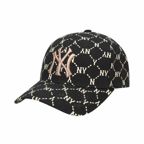 Mũ MLB Dia Monogram Cured Adjustable Cap New York Yankees 32CPFH011-50L Màu Đen