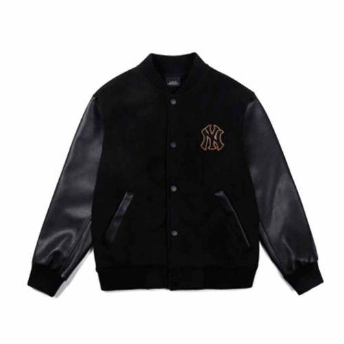 Áo Khoác MLB Fleece Classic Monster Baseball Jacket Màu Đen Size S