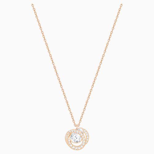 Dây Chuyền Swarovski Generation Pendant, White, Rose-Gold Tone Plated