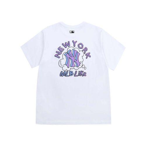 Áo Phông MLB Like Popcorn Overfit Short Sleeve T-shirt New York Yankees Màu Trắng Size S