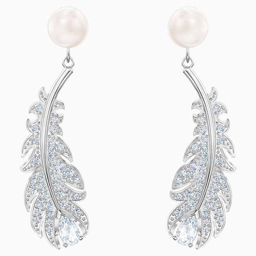 Khuyên Tai Swarovski Nice Pierced Earrings White Rhodium Plated