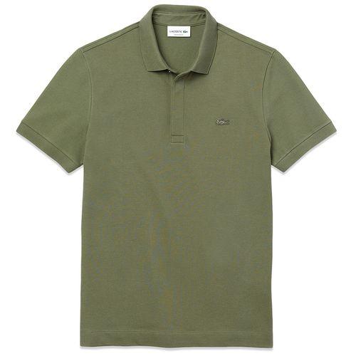 Áo Phông Lacoste Paris Regular Fit Stretch Polo Màu Xanh Olive Size M