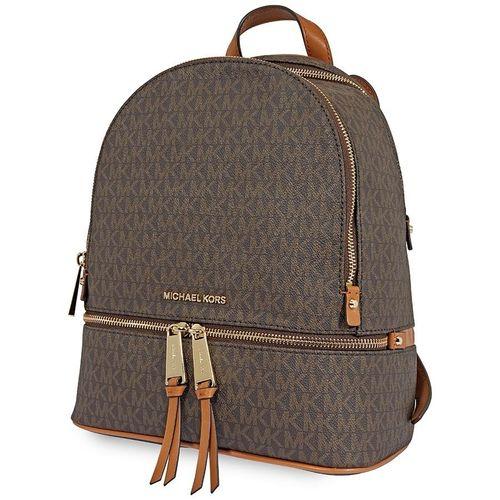 Balo Michael Kors Rhea Medium Logo Print Backpack - Brown Màu Nâu