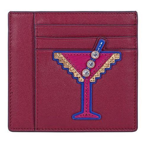 Ví Card Tory Burch Martini Applique Square Card Case - Imperial Garnet Màu Đỏ Đô
