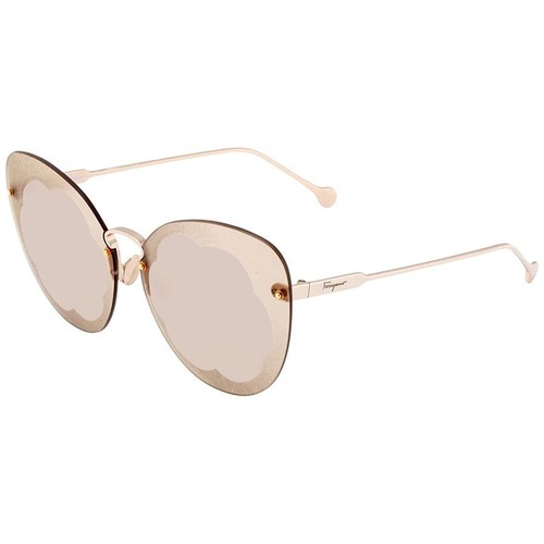 Kính Mát Salvatore Ferragamo Light Grey Butterfly Ladies Sunglasses
