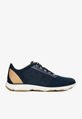 Sneakers Nam Geox U NEBULA A TEXTILE+SUEDE Màu Xanh Navy Size 39