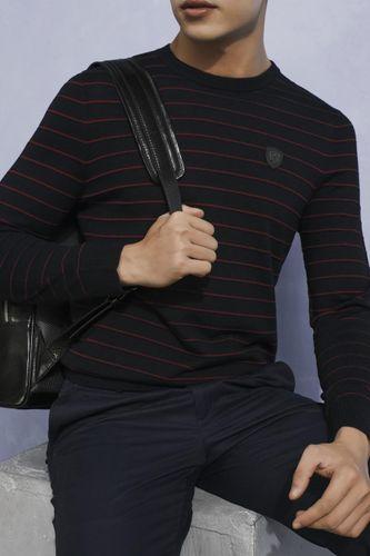 Áo Len Nam Giovanni UA021-RE Màu Đen Kẻ Đỏ Size 48