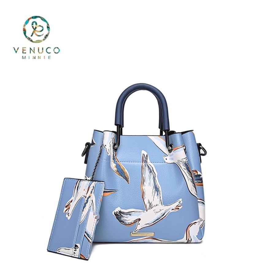 Túi FRB Venuco  Bo Nắp - Xanh Bird - B15F03