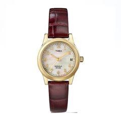 Đồng Hồ Timex T216939J Dây Da Màu Nâu Đỏ Cho Nữ