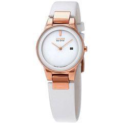 Đồng Hồ Nữ Citizen Eco Drive Axiom White Dial Ladies Casual Watch GA1053-01A