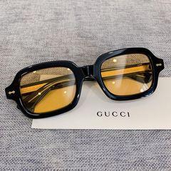 Kính Mát Gucci LKM 450 Gọng Đen Tròng Vàng