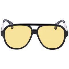 Kính Mát Gucci Yellow Round Men's Sunglasses GG0463S 001 58