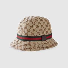 Mũ Gucci Ssima Soft Web Fedora Hat Màu Nâu