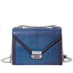 Túi Đeo Chéo Michael Kors Whitney Large Shoulder Bag- Blue/Black Màu Xanh Dương