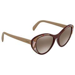 Kính Mát Prada Brown Gradient Silver Mirror Cat Eye Ladies Sunglasses PR 14US LJ84O0